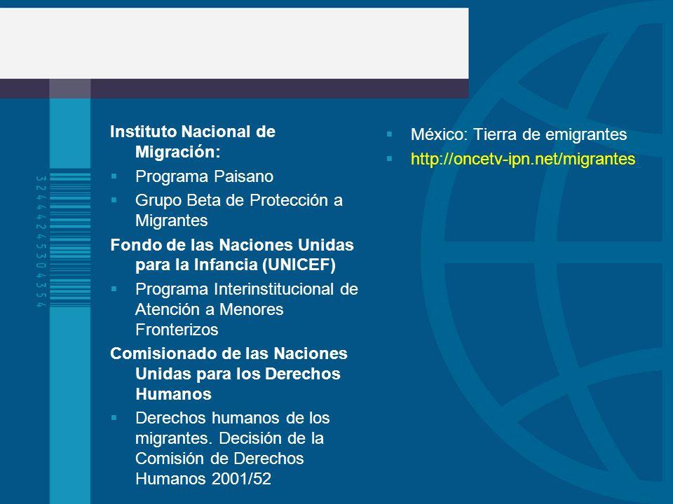 Instituto Nacional de Migración: