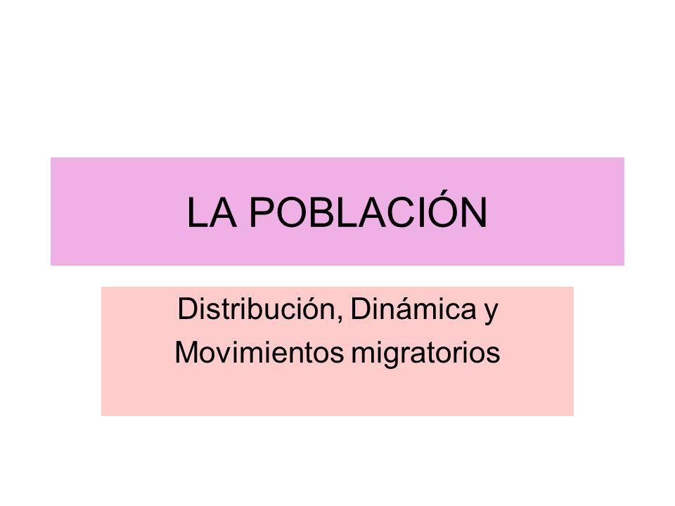 Distribución, Dinámica y Movimientos migratorios