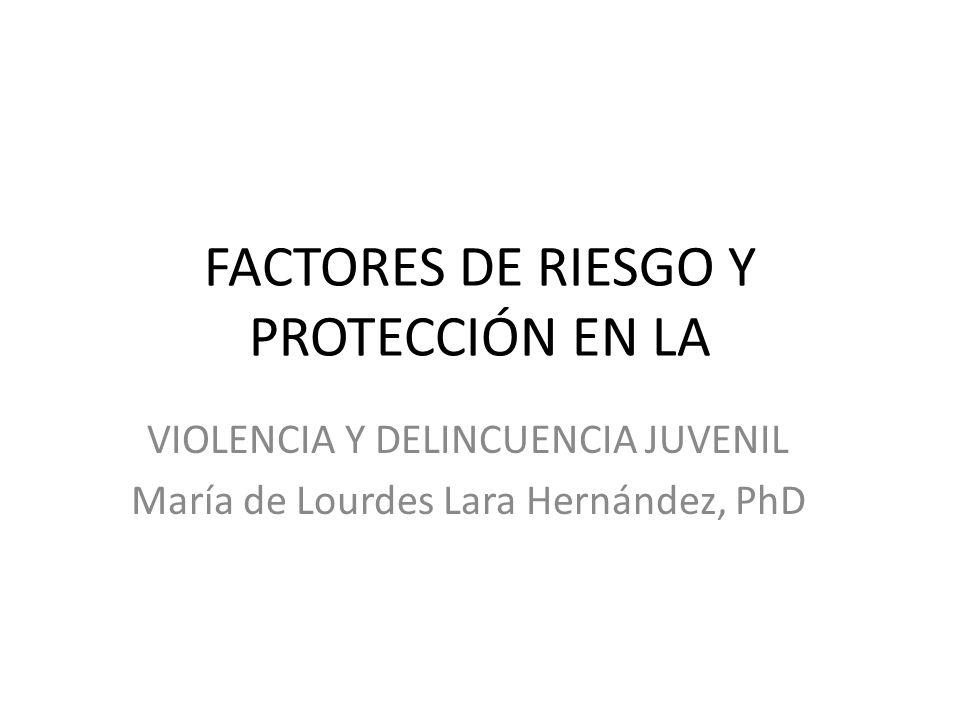 FACTORES DE RIESGO Y PROTECCIÓN EN LA