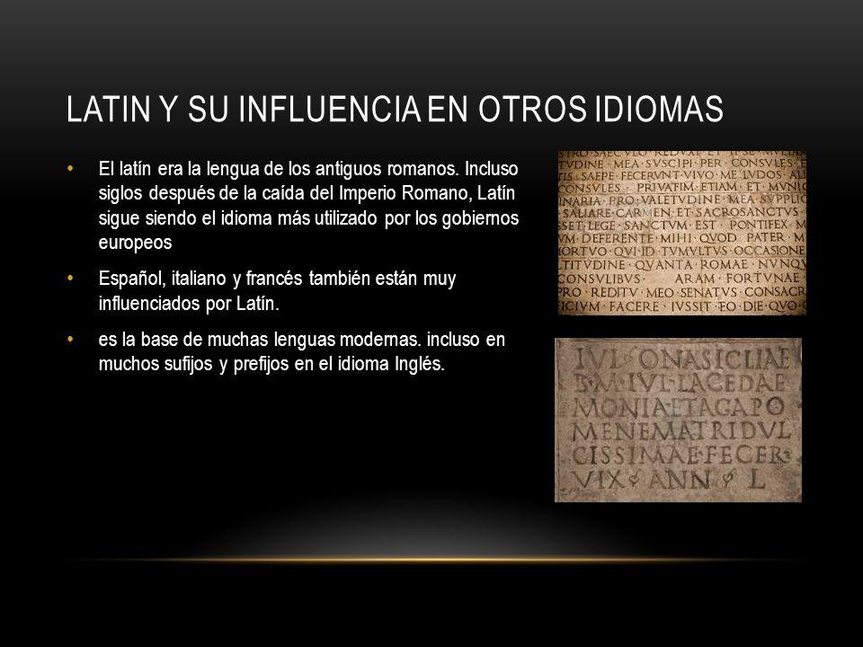 Latin y su influencia en otros idiomas