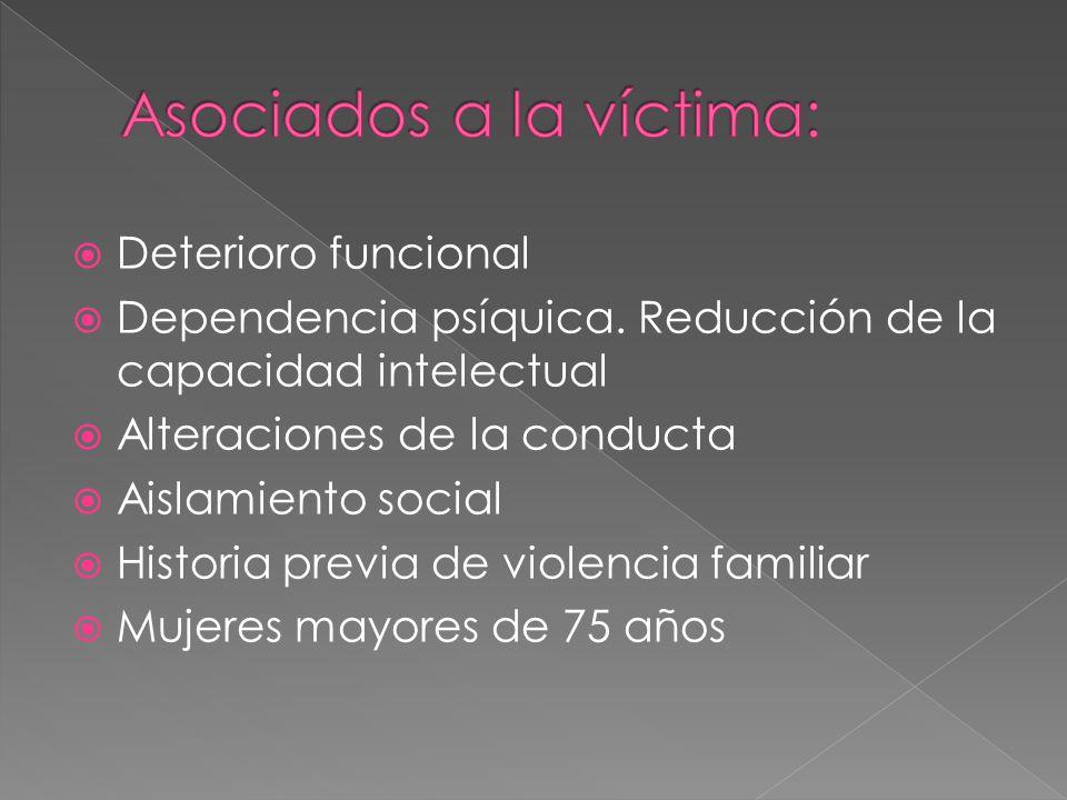 Asociados a la víctima: