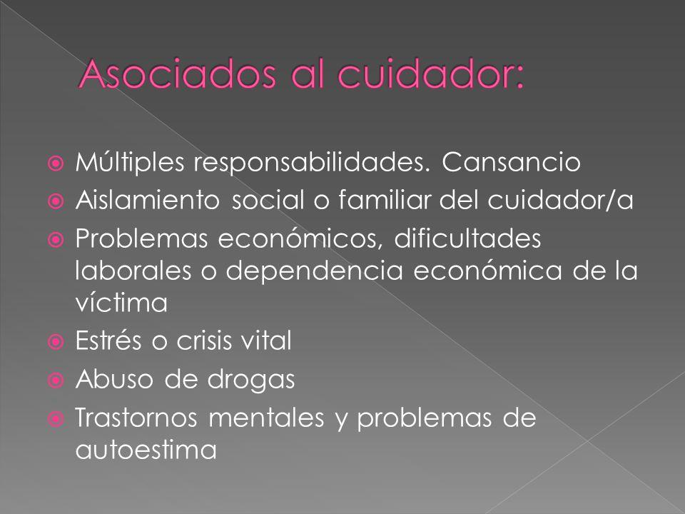 Asociados al cuidador: