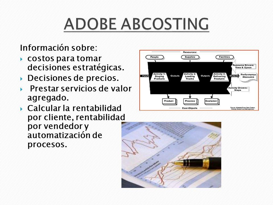 ADOBE ABCOSTING Información sobre: