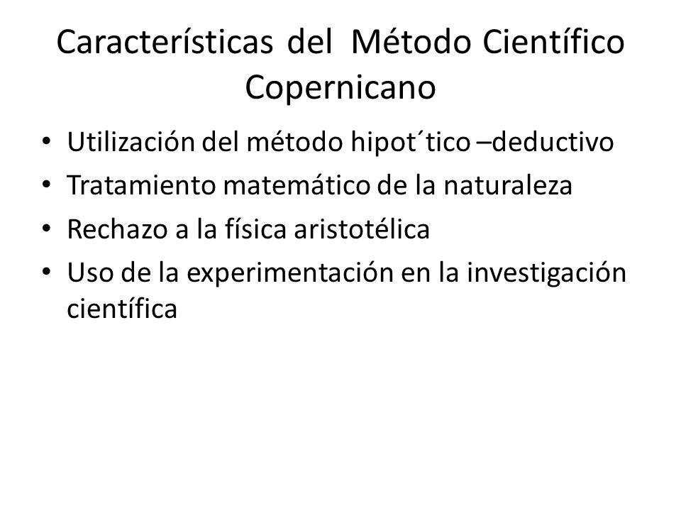 Características del Método Científico Copernicano