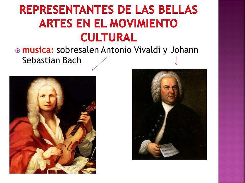 Representantes de las bellas artes en el movimiento cultural