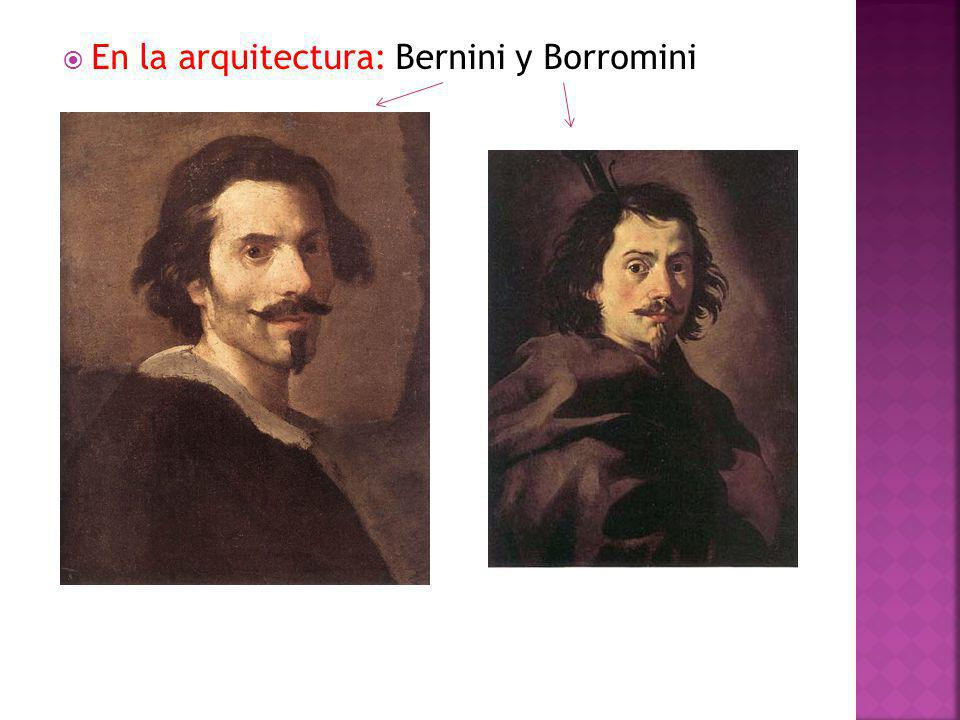 En la arquitectura: Bernini y Borromini