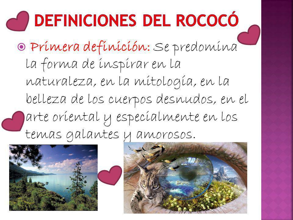 Definiciones del rococó