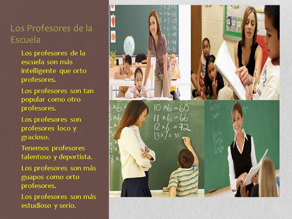 Los Profesores de la Escuela
