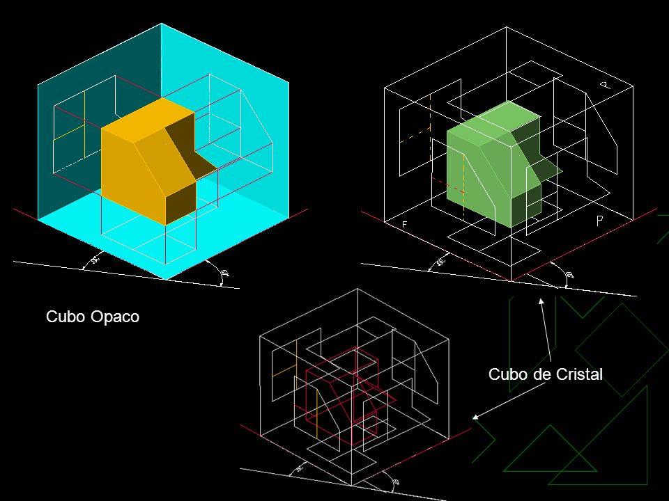 Cubo Opaco Cubo de Cristal