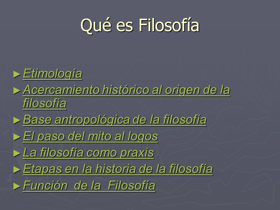 Qué es Filosofía Etimología
