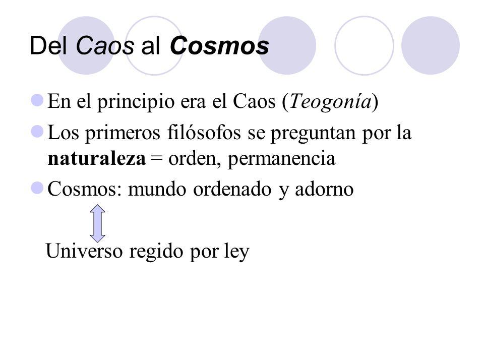Del Caos al Cosmos En el principio era el Caos (Teogonía)