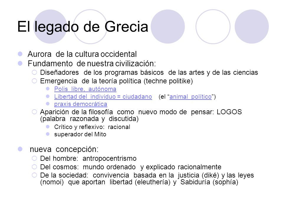 El legado de Grecia Aurora de la cultura occidental