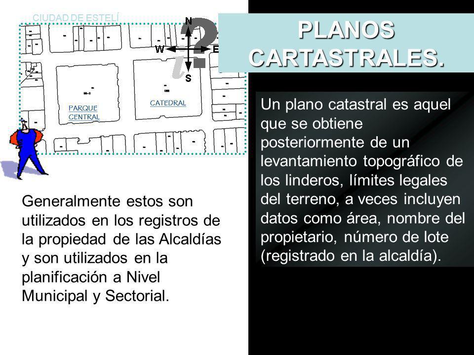CIUDAD DE ESTELÍ PLANOS CARTASTRALES. Definición.