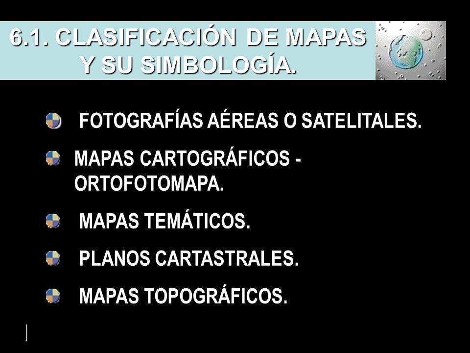 6.1. CLASIFICACIÓN DE MAPAS Y SU SIMBOLOGÍA.