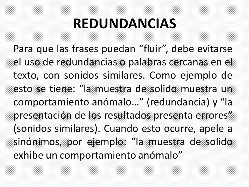 REDUNDANCIAS