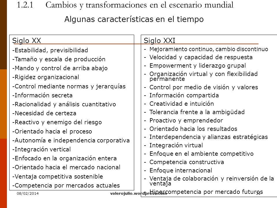 1.2.1 Cambios y transformaciones en el escenario mundial
