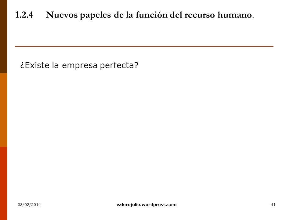 1.2.4 Nuevos papeles de la función del recurso humano.