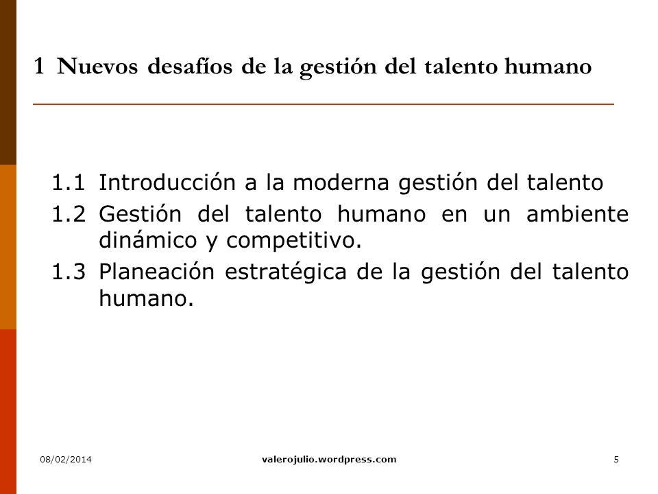 1 Nuevos desafíos de la gestión del talento humano