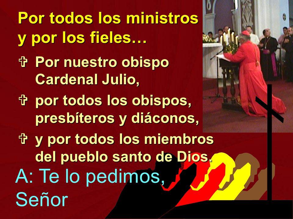 Por todos los ministros y por los fieles…