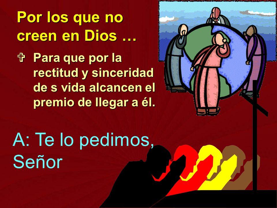 Por los que no creen en Dios …