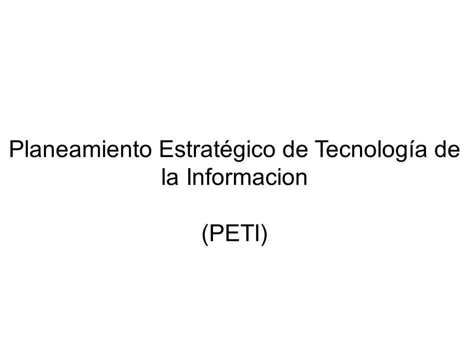 Planeamiento Estratégico de Tecnología de la Informacion