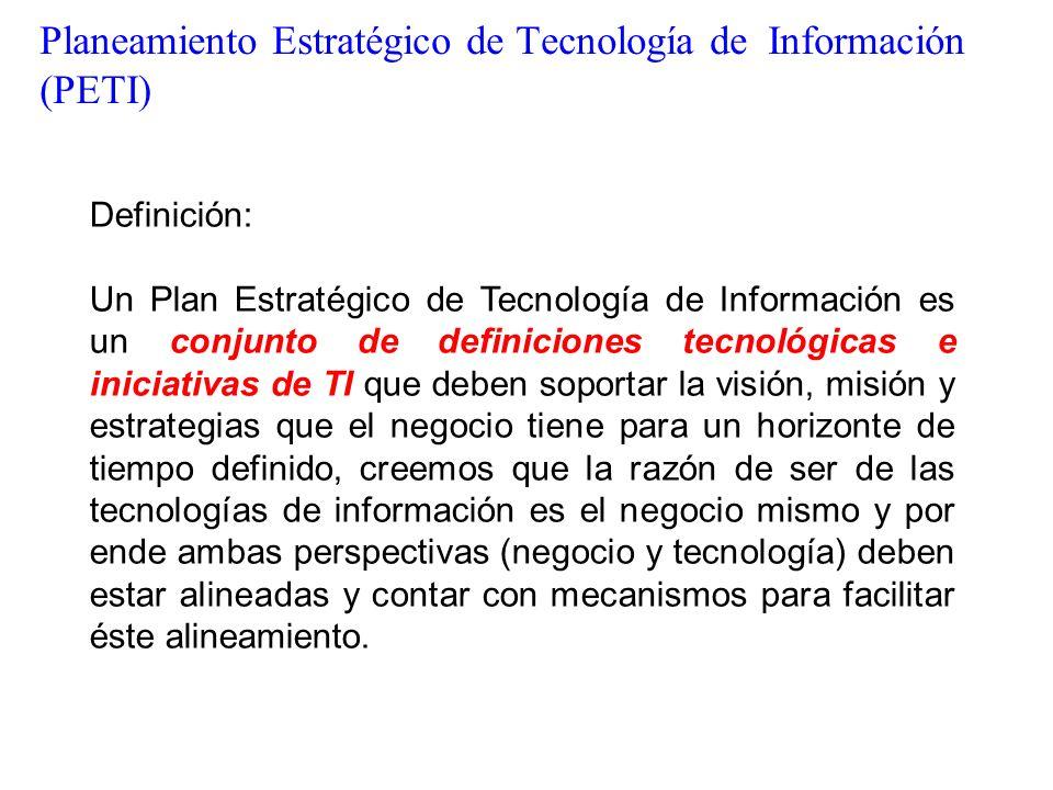 Planeamiento Estratégico de Tecnología de Información (PETI)