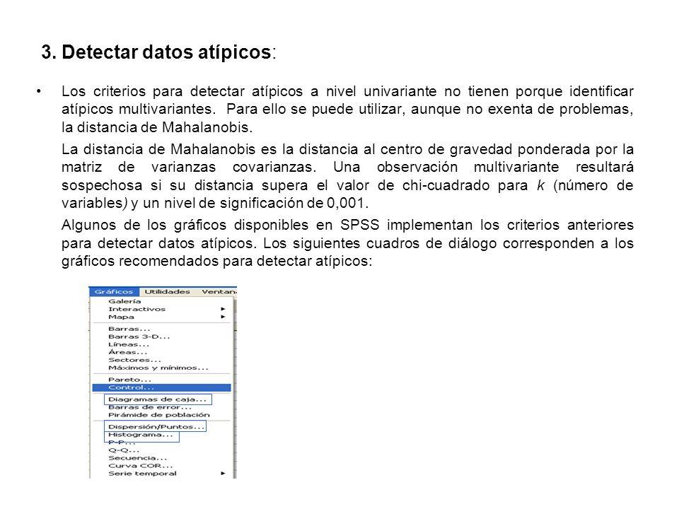 3. Detectar datos atípicos: