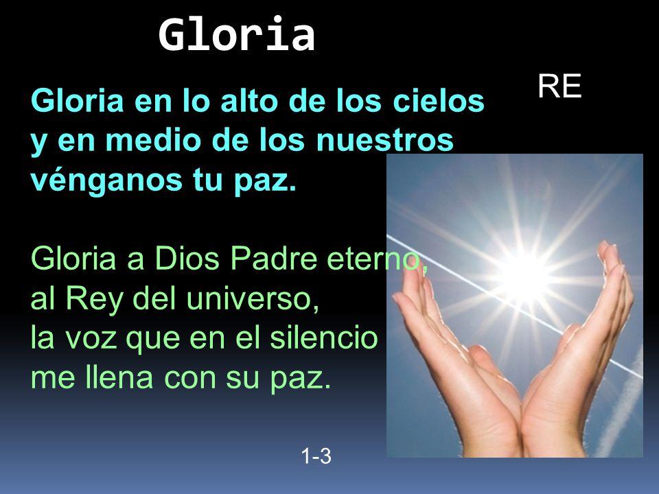 Gloria RE Gloria en lo alto de los cielos y en medio de los nuestros