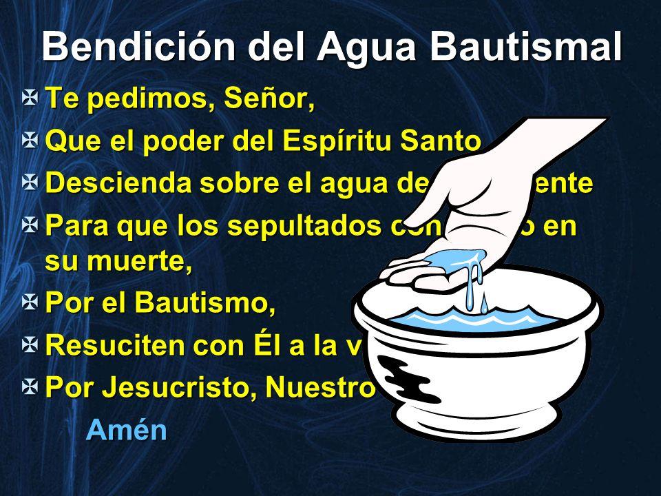 Bendición del Agua Bautismal