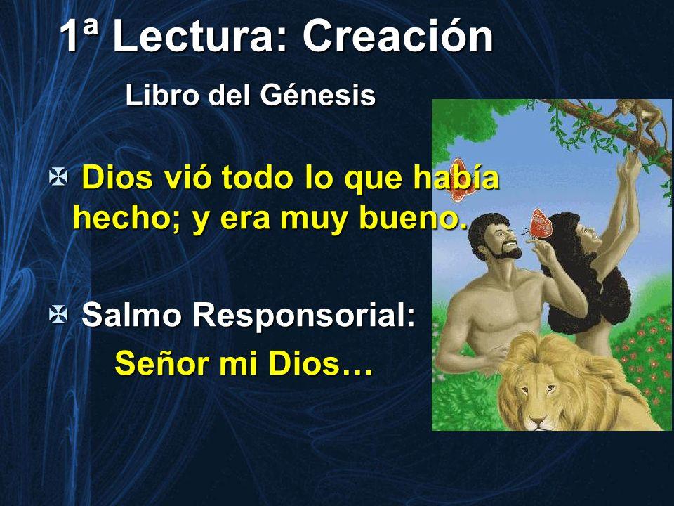 1ª Lectura: Creación Libro del Génesis