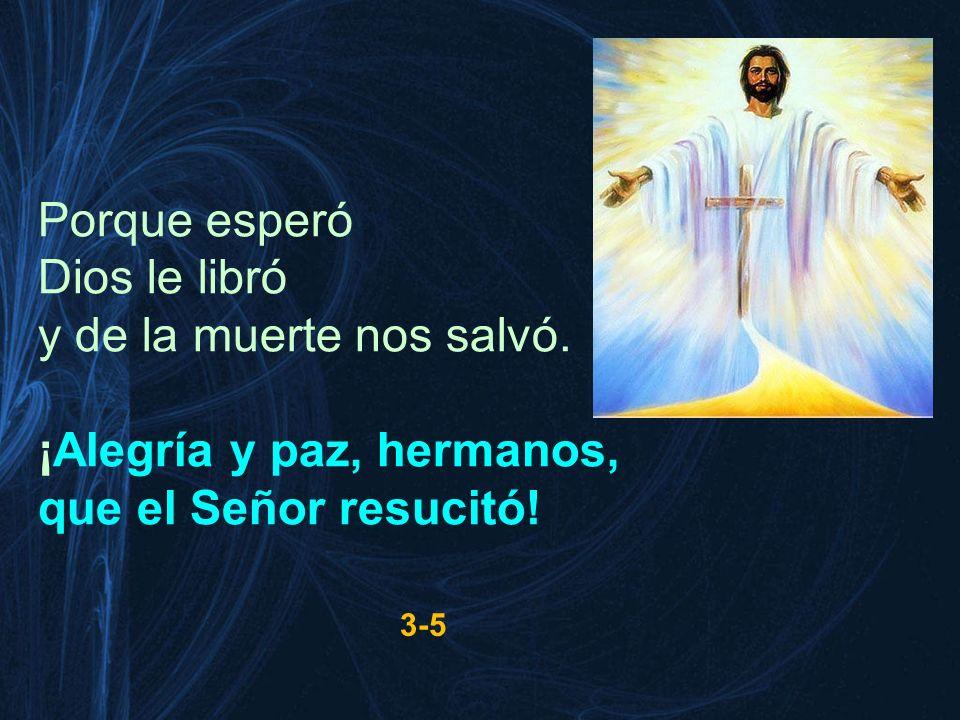 ¡Alegría y paz, hermanos, que el Señor resucitó!