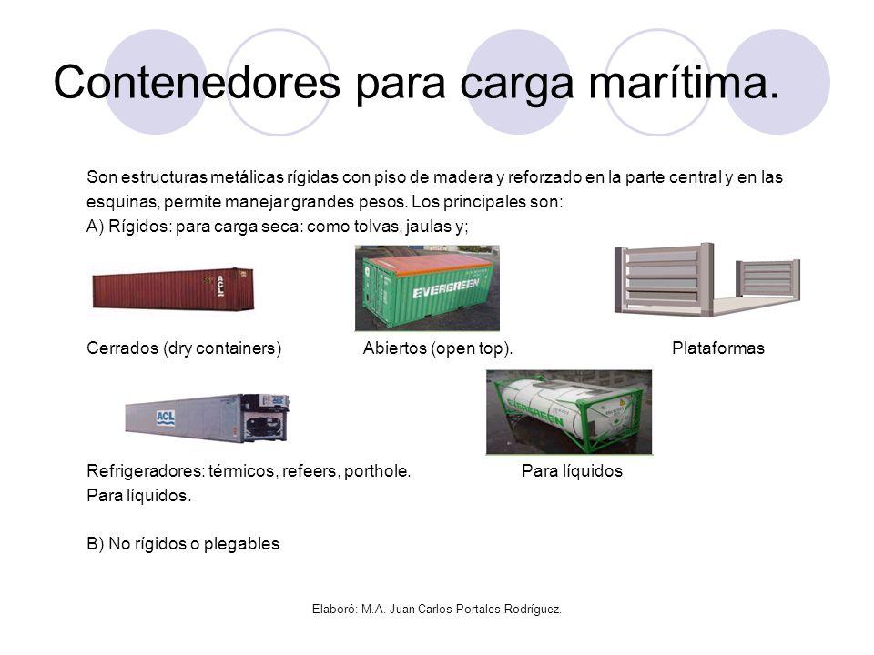 Contenedores para carga marítima.