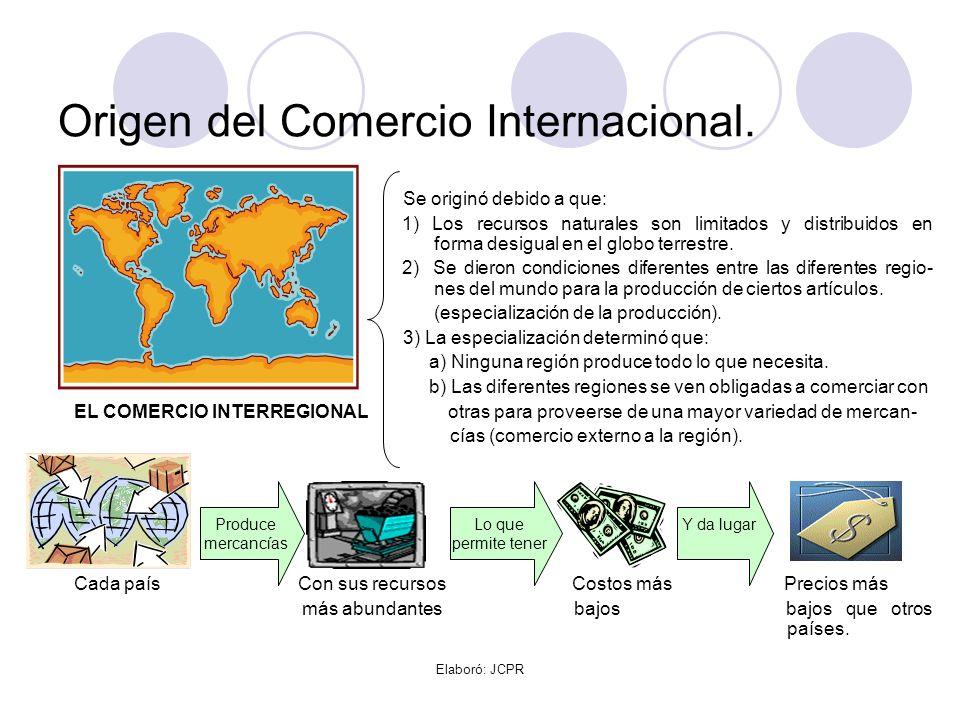 Origen del Comercio Internacional.