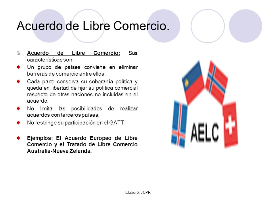 Acuerdo de Libre Comercio.