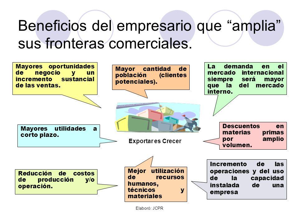 Beneficios del empresario que amplia sus fronteras comerciales.