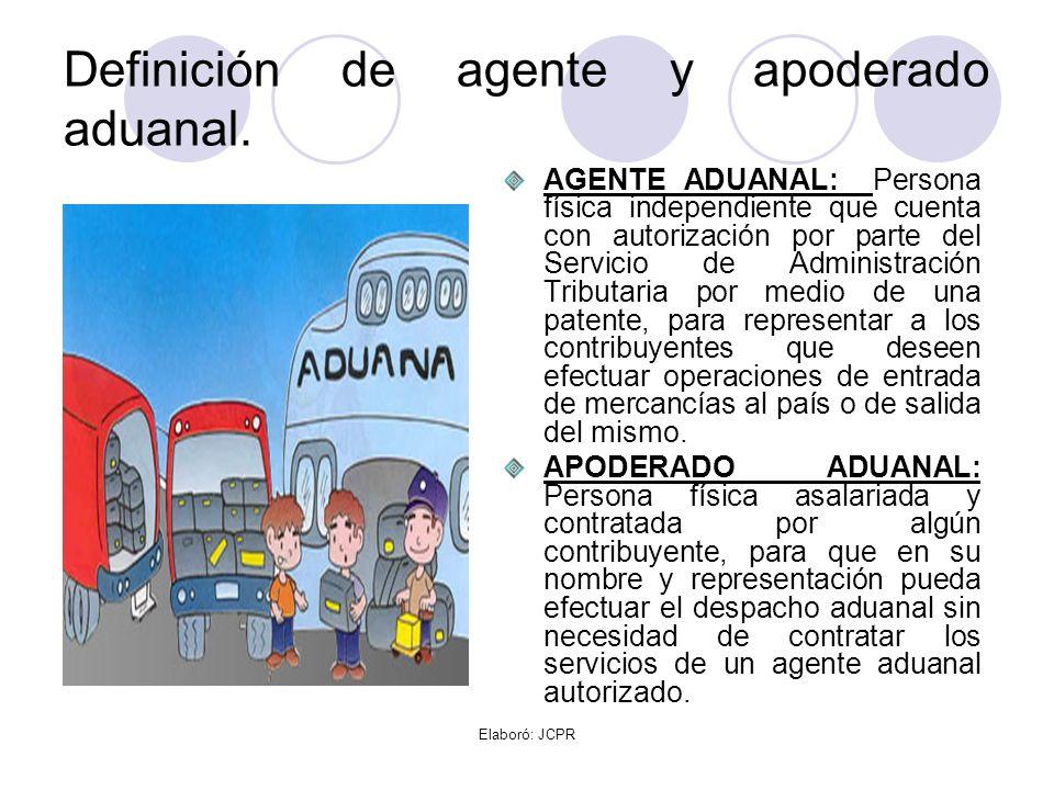 Definición de agente y apoderado aduanal.