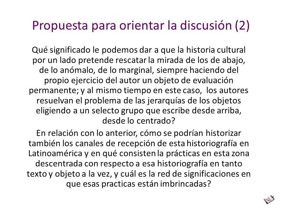 Propuesta para orientar la discusión (2)