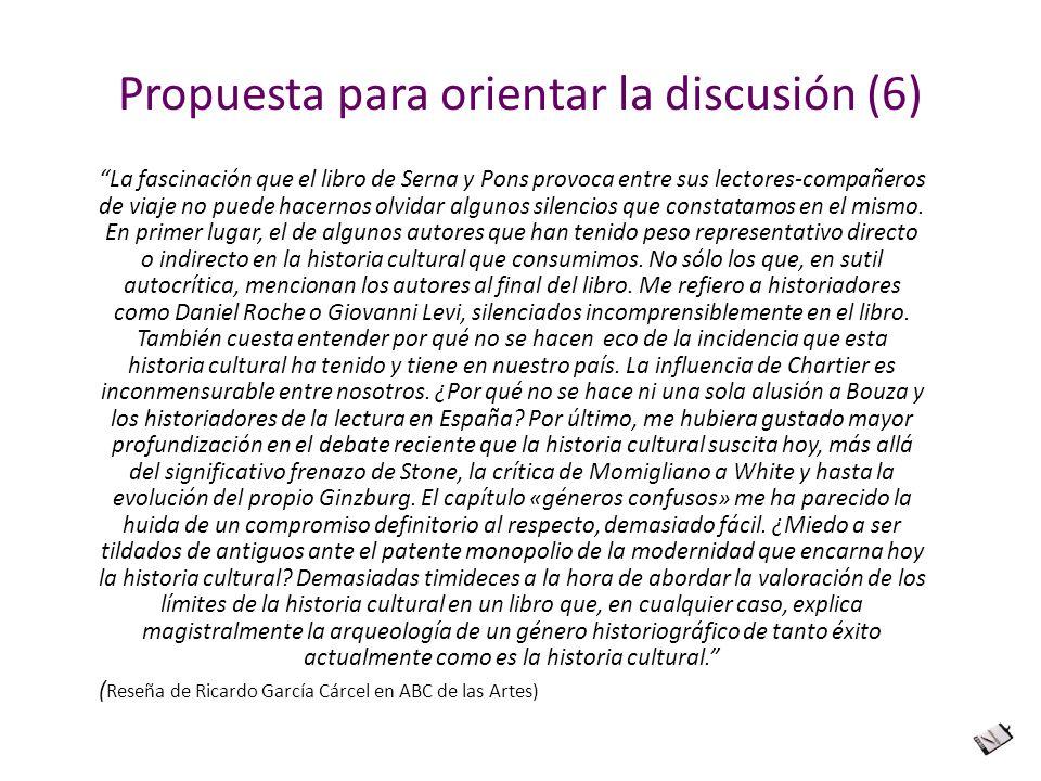 Propuesta para orientar la discusión (6)