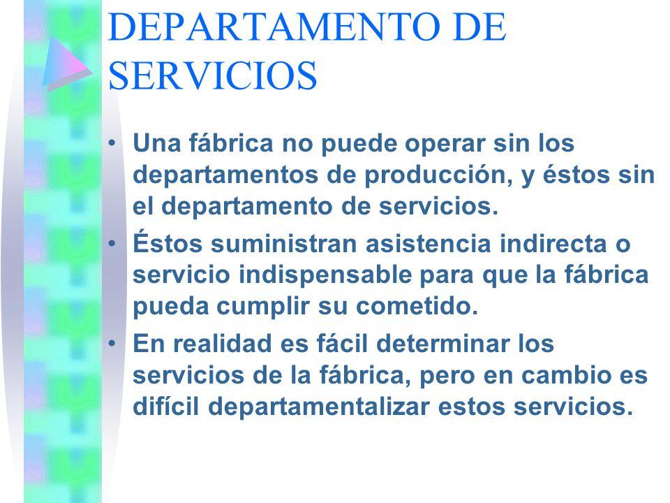 DEPARTAMENTO DE SERVICIOS