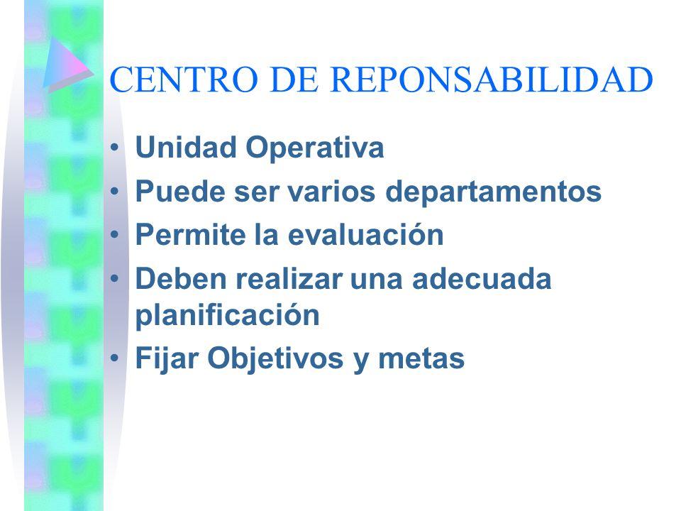 CENTRO DE REPONSABILIDAD