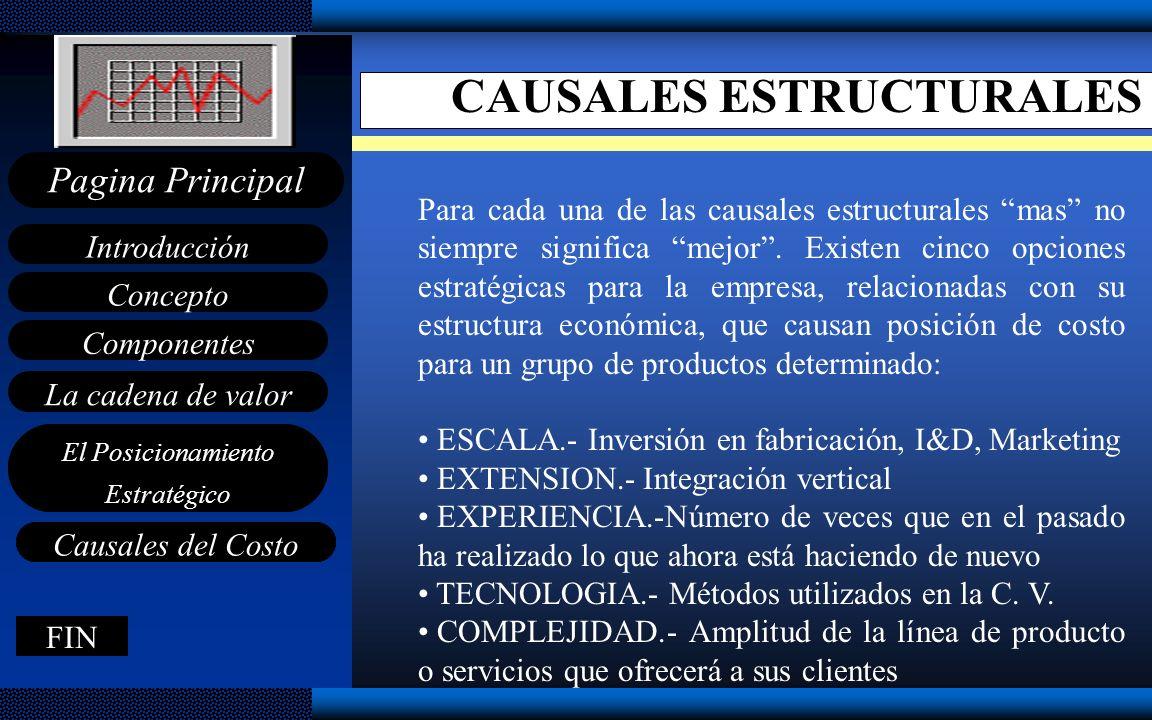 CAUSALES ESTRUCTURALES