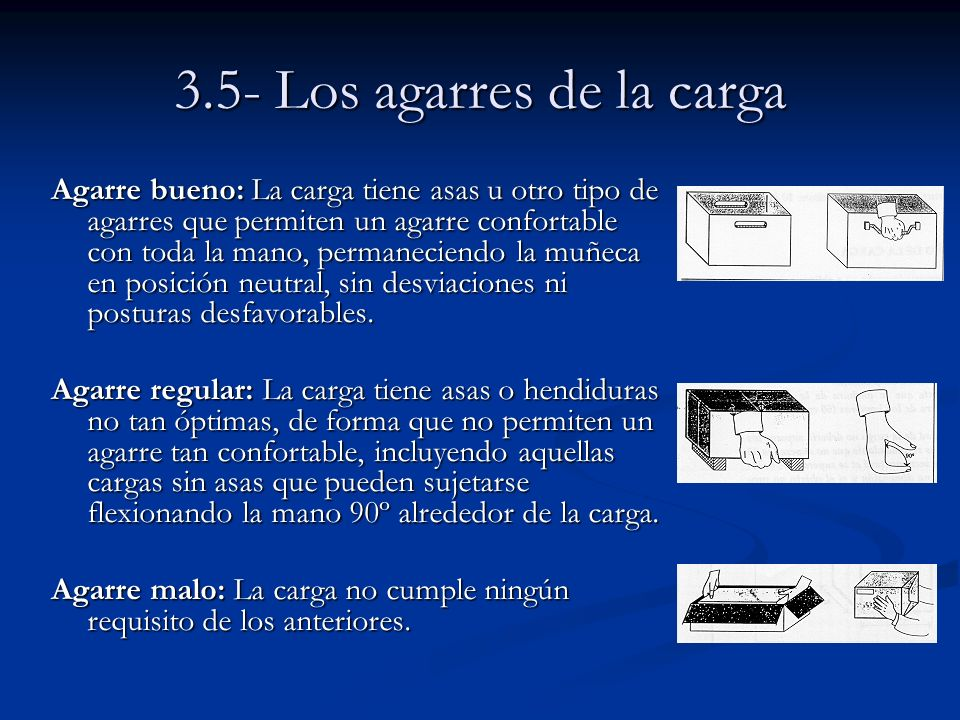 3.5- Los agarres de la carga