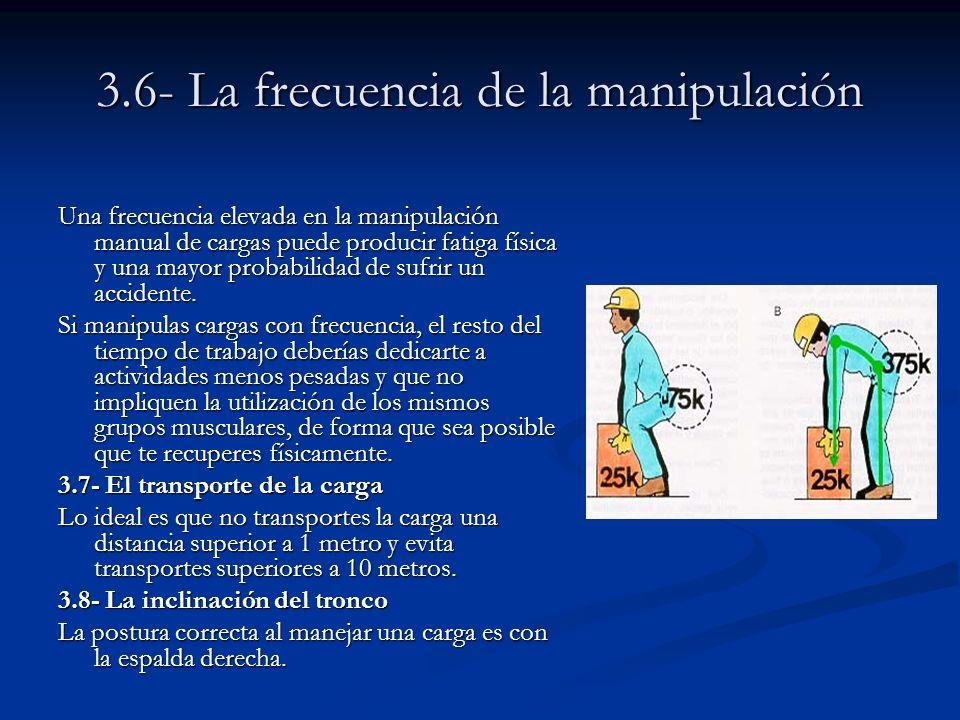 3.6- La frecuencia de la manipulación