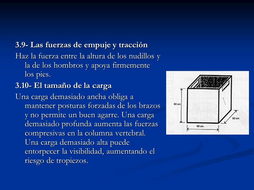 3.9- Las fuerzas de empuje y tracción