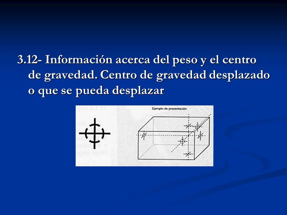 3. 12- Información acerca del peso y el centro de gravedad