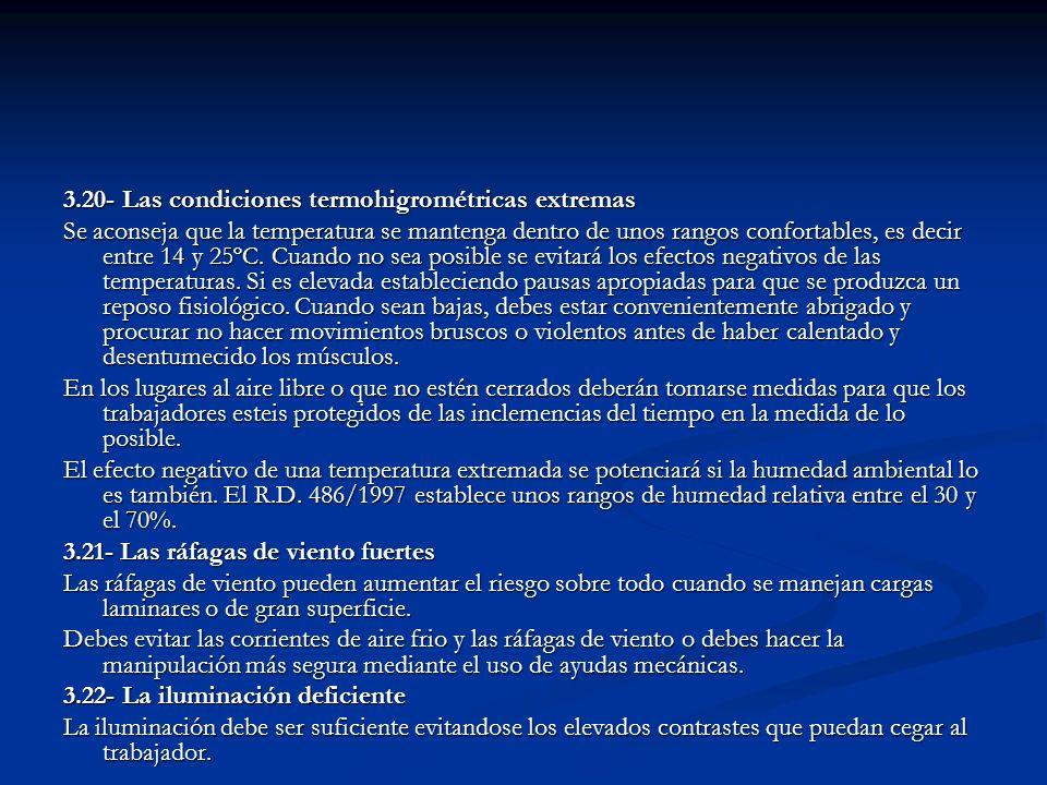 3.20- Las condiciones termohigrométricas extremas