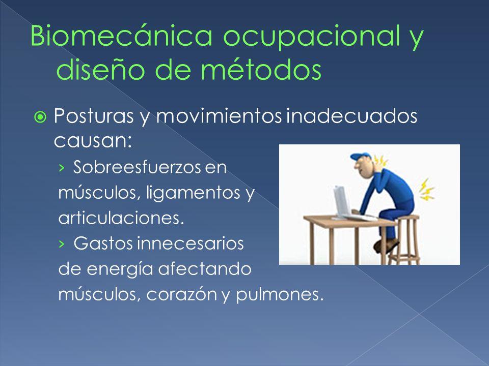 Biomecánica ocupacional y diseño de métodos