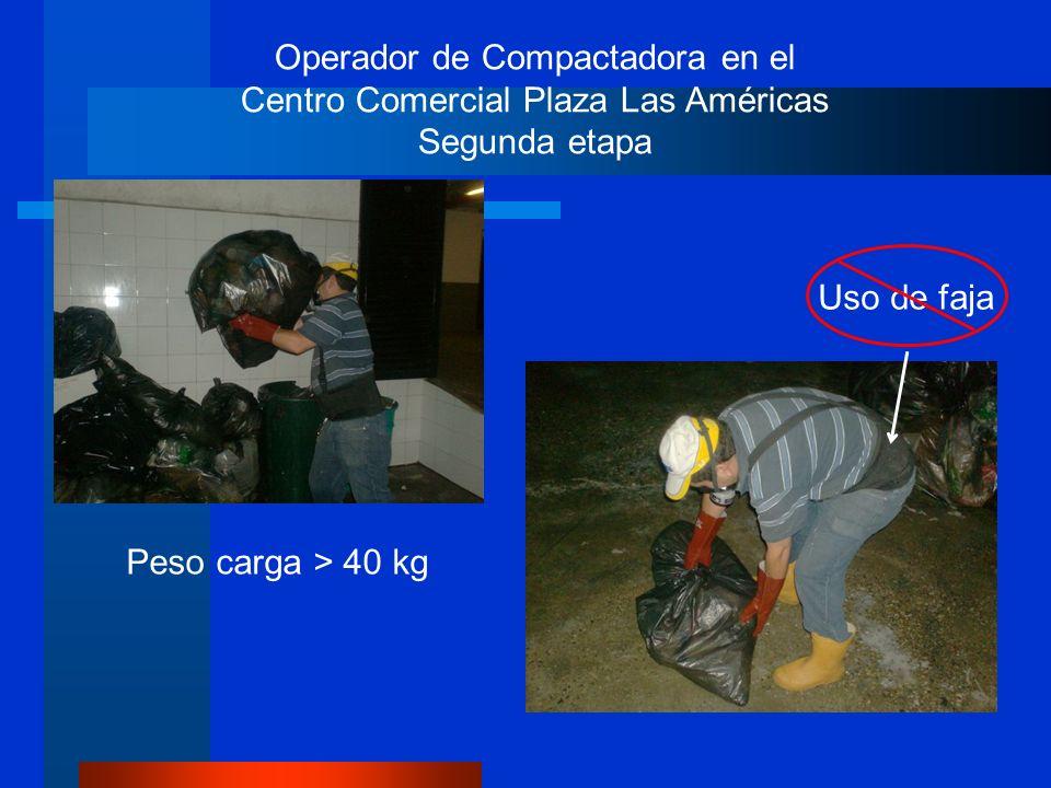 Operador de Compactadora en el Centro Comercial Plaza Las Américas Segunda etapa