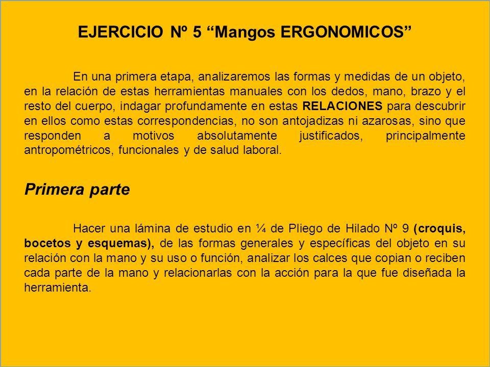 EJERCICIO Nº 5 Mangos ERGONOMICOS