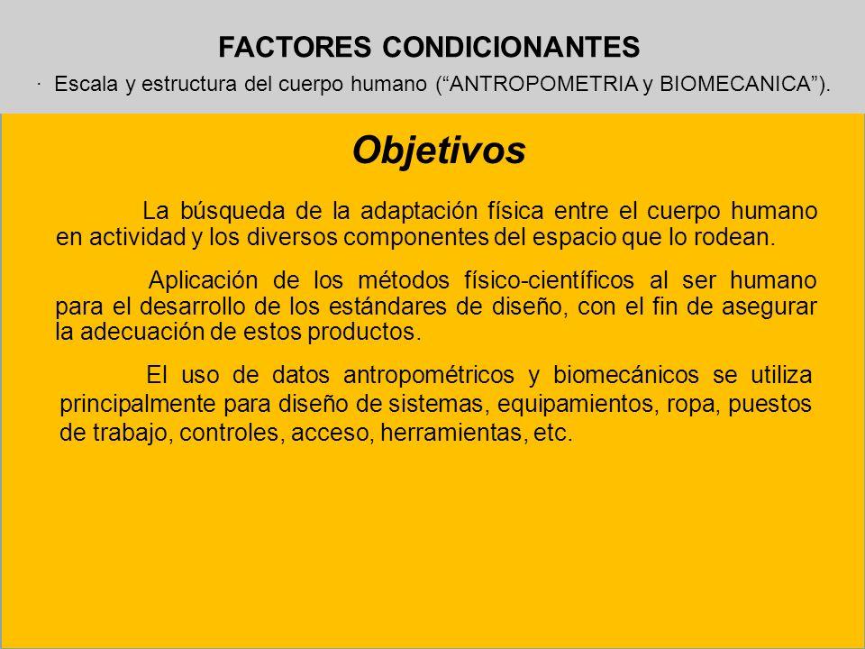 FACTORES CONDICIONANTES